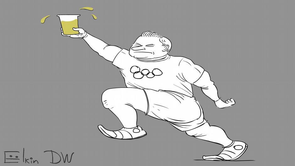 Допинговый скандал меняет олимпийскую символику, Сергей Елкин