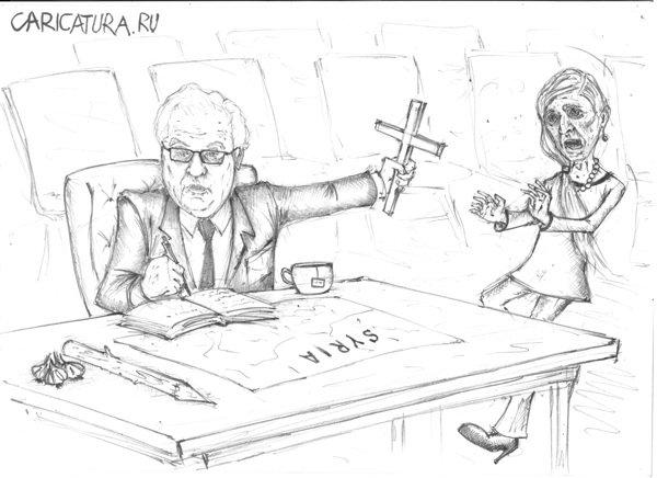 Виталий Чуркин на заседании в СБ ООН по Сирии, Павел Валерьев