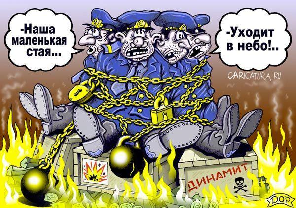 Карикатура на новых русских свинья