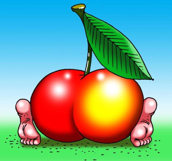 Прикольные картинки о яблочке