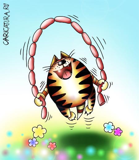 картинки с котами нарисованные