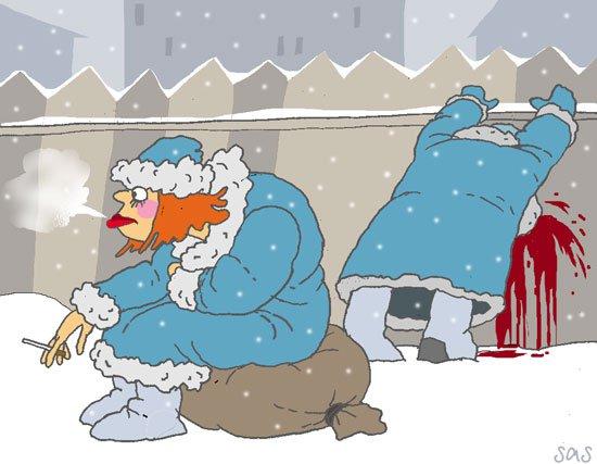 Карикатура на прохорова и путина