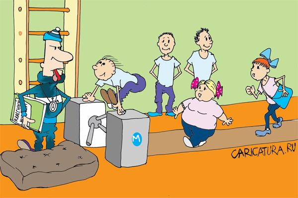 Установлено, что в спорт бирской школы на уроке физкультуры 57-летний учитель из-за того, что, по его мнению...