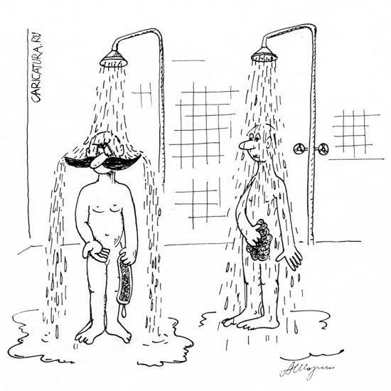 Смешные картинки про душ, город