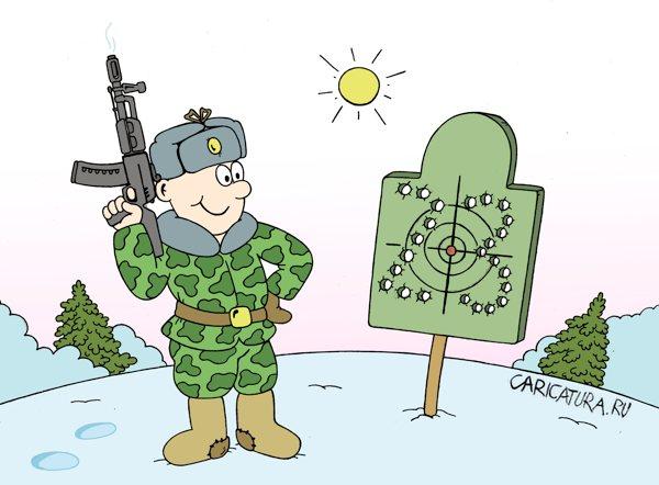 Карикатура «23 февраля», художник Андрей Жигадло. В теме «Армия ...